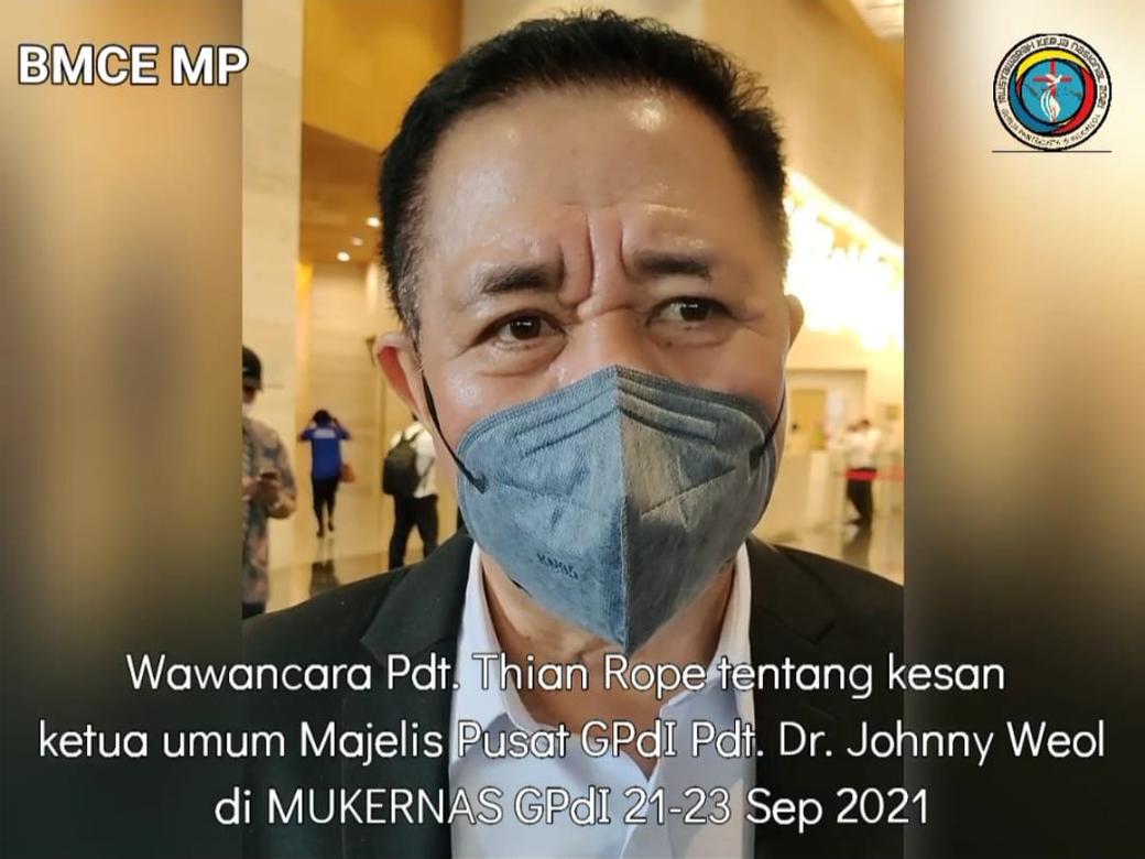 Kesan Ketua Umum MP GPdI Di MUKERNAS 2021