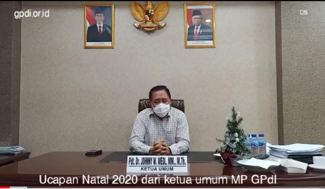 Ucapan Selamat Natal 2020 dari ketua umum MP